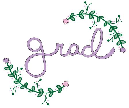 Graduate Grad lettering