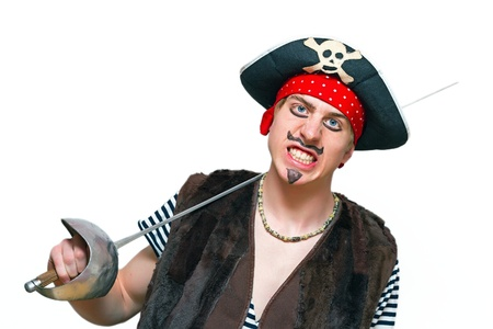 young pirate with a sharp sword Stock Photo - 13440307