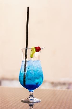 refreshing summer drink - the blue lagoon photo