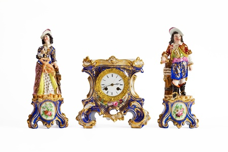 Rococo Meissen porcelain clock from the 18th century Stock Photo - 14781045