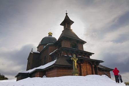 Chapel of Cyril and Methodius on Radhost photo