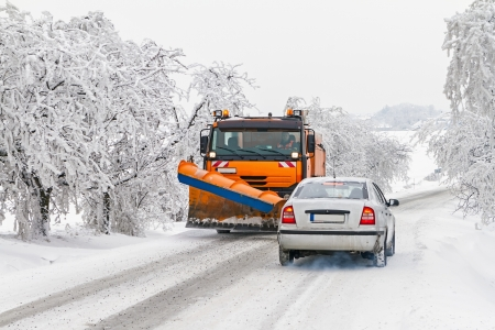 Winter maintenance of roads photo