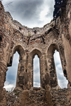 The ruins of the church boat castle Beckov photo