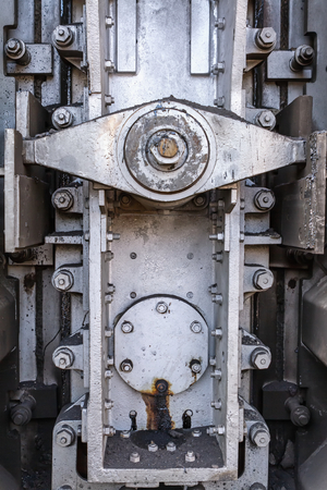smelter: Butterfly - locking mechanism on the door of the coke ovens Stock Photo