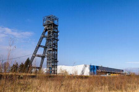 An old tower from the abandoned Pokrok mine