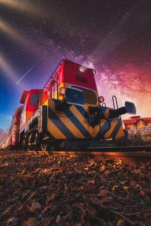 Journey by magic train around the world Reklamní fotografie