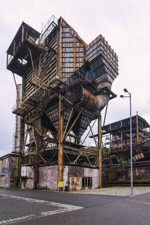 Steel elephant - dust filter from blast furnace Reklamní fotografie