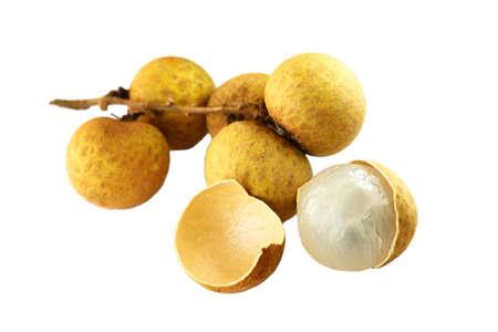 Asian exotic fruit – Longan or LamYai isolated on white