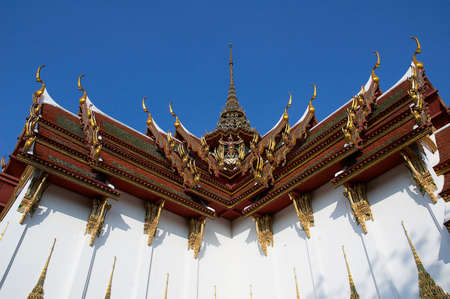 Historical places. Old Buddhism temples in Thailand Stock Photo