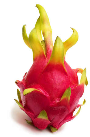 black and white dragon: Exotic Thai Fruit. Dragon fruit - Geow Mangon. Isolated on white. Stock Photo
