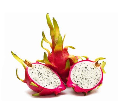Exotic Thai Fruit. Dragon fruit - Geow Mangon. Isolated on white. photo