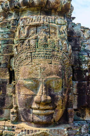 Faces of Bayon temple. Ankor wat. Cambodia.