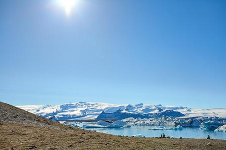 lagoon: Landscape of Jokulsarlon lagoon, Iceland