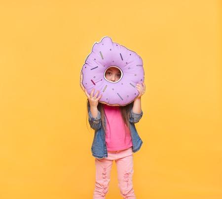 Portrait of a girl looking through zero