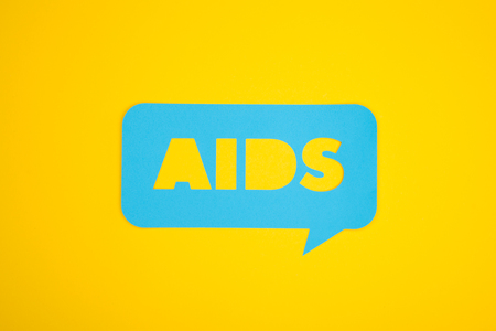 The aids cardboard bubble