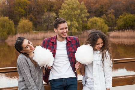 Friends with candy floss Imagens
