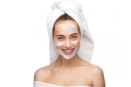 Charming model with applied cosmetics Stock fotó