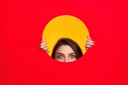 Woman in circle posing