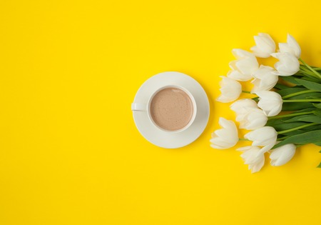 Gentle flowers and coffee