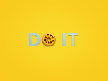Words Do it made with doughnut