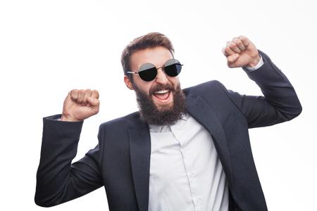 Cheerful dandy man in sunglasses Reklamní fotografie