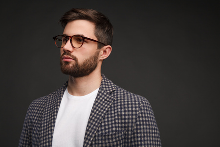 Man in glasses and casual suit
