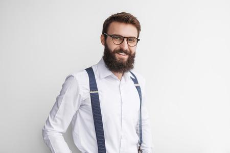 Smiling handsome man in elegant outfit