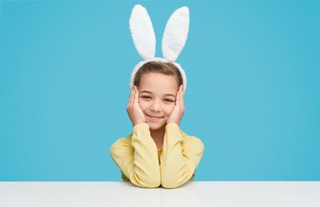 Pretty girl wearing bunny ears