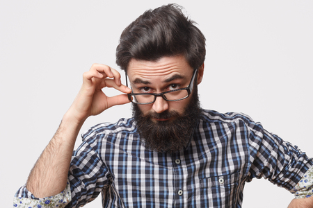 Man looking at camera with question