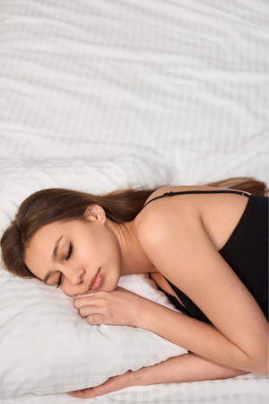 Young woman peacefully sleeping