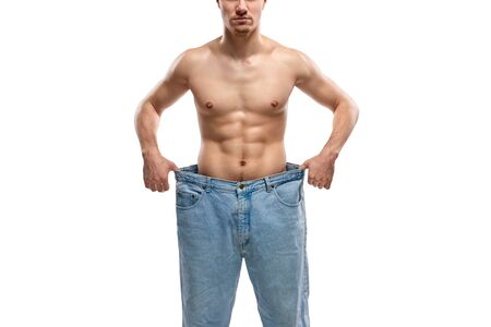 Crop guy in large jeans