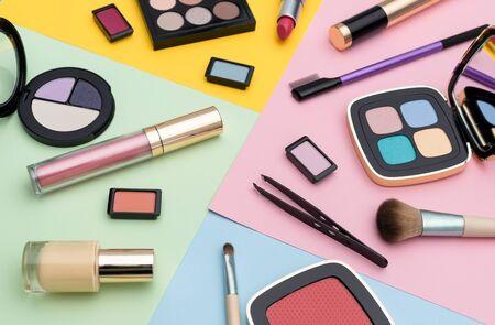 Set of assorted makeup tools Фото со стока