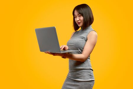 Asian businesswoman using laptop Banco de Imagens - 127038671