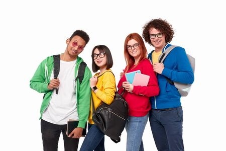 Group of international students during studies