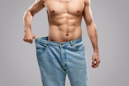 Crop fit guy in oversized jeans