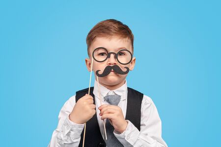 Little gentleman with mustache and glasses