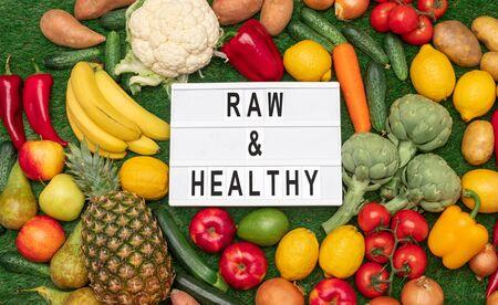 Bunch of fresh and raw food 版權商用圖片
