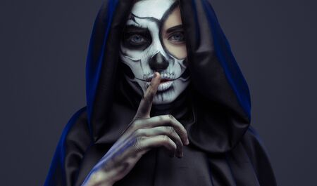 Female death asking to keep silence