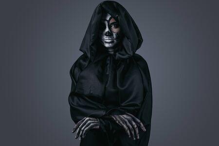 Creepy ghost in dark cape