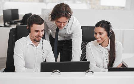 Help line team working together
