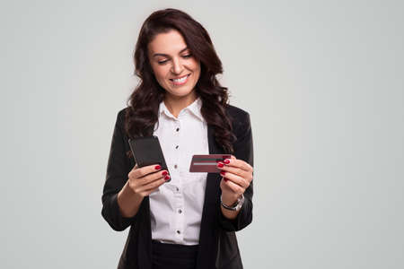 Business woman buying online shopping