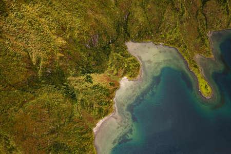 Amazing landscape of green coast and lagoon