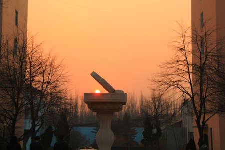 reloj de sol: Crep�sculo del reloj de sol