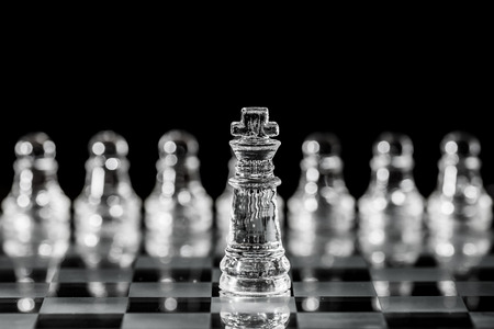 staunch: King is a chess champion and to be cared for most.