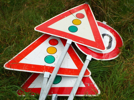 inoperative: Discarded traffic signs