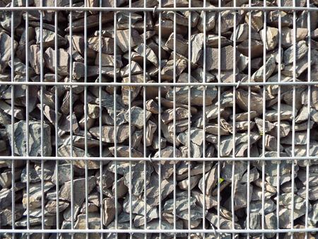 demarcation: Stone wall Stock Photo