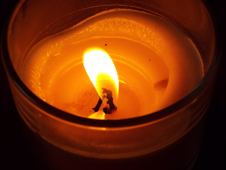 enlightment: Candle Stock Photo