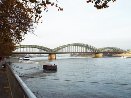 collective bargaining: Hohenzollern Bridge, Germany, Cologne 2014 The Hohenzollern bridge is the only railway bridge, which connects the banks of the Rhine in Cologne.