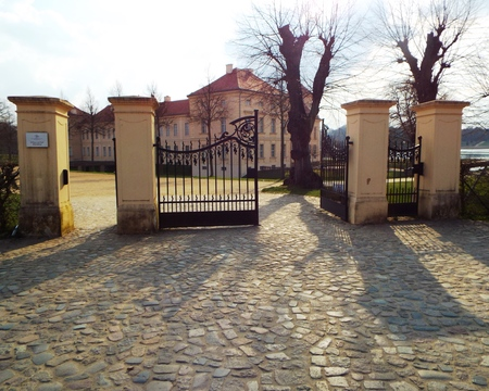 frederick: Entrance of the castle in Rheinberg, Germany 10042016 - In Rheinberg Castle the young Crown Prince Frederick lived before he what crowned King Frederick II of Prussia.. Editorial