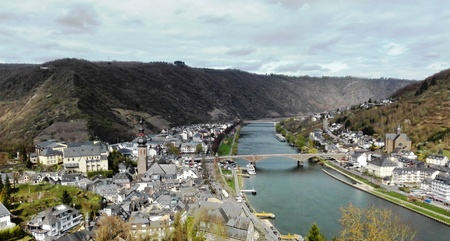 View of Cochem - View of the district town of Cochem in the valley of the Moselle. Germany, Cochem, Germany, March 29, 2017 Editorial